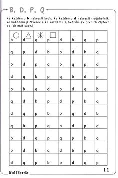 Visual perception activities, Visual discrimination, Learning letters, Dyslexia activities, Vision therapy activities, Education - Centrum učebnic CZ  Raabe, Gošová, V , Kuliferda  Pozornost II  PS -  #Visualperception #activities