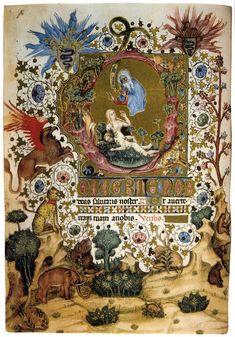 Giovannino de'Grassi. Livres d'heures de Gian Galeazzo Visconti, vers 1370 (complété vers 1430 par Belbello da Pavia). Florence, Bibliothèque nationale centrale.