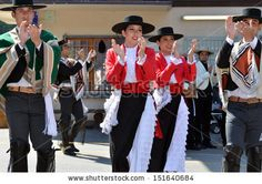 EVOLENE, SWITZERLAND - AUGUST 13: Chilean dance group clapping at the International Festival of Folklore and Dance from the mountains (CIME) :  August 13, 2013 in Evolene Switzerland - stock photo
