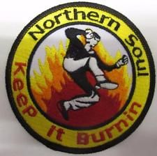 NORTHERN SOUL PATCH - NORTHERN SOUL - KEEP IT BURNIN DANCER Soul Patch, Northern Soul, Dancer, Decorative Plates, Patches