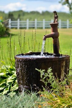 Rustic fountain
