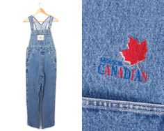 Hollywood denim by LiveToLiveVintage 90s Grunge, Canadian Beer, Hollywood, Denim Overalls, Vintage Denim, Vintage Ladies, Thighs, Skinny Jeans, Cotton