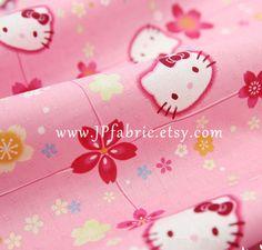 Pink Hello Kitty fabric. Pure cotton. Natural, medium thick, non-sheer fabric. Ship worldwide.  ¨¨¨°º©©º°¨¨¨¨°º©©º°¨¨¨¨¨°º©©º°¨¨¨¨°º©©º°¨  30% OFF with