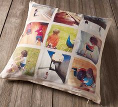 Transfer your Instagram photos onto a fabric pillow with Mod Podge Photo Transfer.