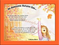 """""""An Awesome Autumn Day"""" Poem  - - Pinned by #PediaStaff.  Visit http://ht.ly/63sNt for all our pediatric therapy pins"""