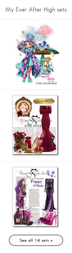 """My Ever After High sets"" by my-time-is-now ❤ liked on Polyvore featuring art, Oris, Zac Posen, Giorgio Armani, Halston Heritage, Christian Louboutin, Tom Ford, Lancôme, too cool for school and NARS Cosmetics"