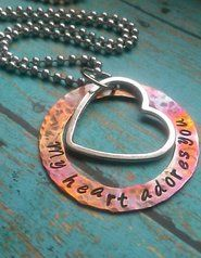 My Heart Adores You Hand Stamped Necklace