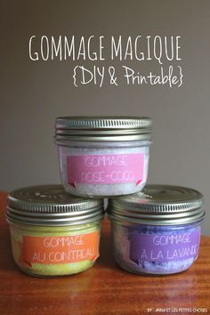 Anna et les Petites Choses …: Gommage magique au sucre et huile de coco {DIY &… Anna and the Little Things …: Magic scrub with sugar and coconut oil {DIY & printable inside} Beauty Care, Diy Beauty, Diy Cadeau, Little Presents, Homemade Cosmetics, Tips & Tricks, Diy Spa, Peeling, Tips Belleza