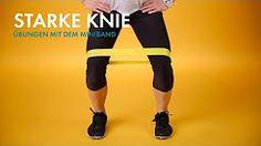 knie übungen mit theraband - YouTube