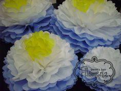 Pompones de papel de seda