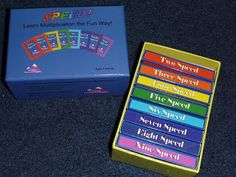 describes Speed! Math game for skip counting/multiplication (could be made at home with durable card stock)