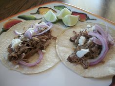 "Crockpot Carnitas - click on the ""this crockpot version"".  This was absolutely fantastic, the hubby couldn't stop raving about it!"