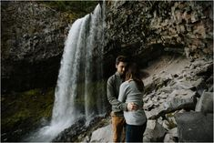 Tamanawas Falls is a gorgeous waterfall on Mt. Hood - perfect for hiking engagement photos! It's about a 3.5 mile hike round trip.