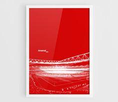 Arsenal FC Emirates Stadium Football Poster  A3 Wall Art