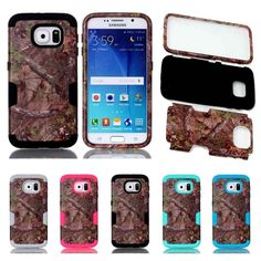 Browning Camo Tough 3 in 1 Case Cover for Samsung Galaxy S6 S7,S6 Edge,S7 Edge