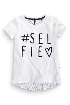 725795cba1cf9a Buy White Selfie Tee (3-16yrs) from the Next UK online shop Next