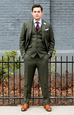 Tailor Cooperative - Custom Suit Shop in Salt Lake City, Utah Tweed Wedding Suits, Black Suit Wedding, Tweed Suits, Khaki Suits, Black Suits, Three Piece Suit, 3 Piece Suits, Dapper Gentleman, Gentleman Style