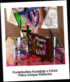 Porte-feuille Customisé FAVA  Showroom Kodd[e]s x FAVA MAi 2015 Pièce Unique à l'acquisition