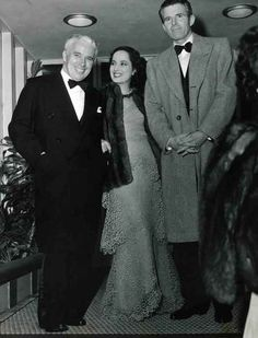 Historic Photograph of Charles Chaplin, Merle Obergon And Tim Durante At Ciro's Nightclub