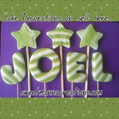 Edible Cake Toppers, Fondant Toppers, Fondant Letters, Custom Cupcakes, Alphabet Letters, Sprinkles, Cake Decorating, Wedding Cakes, Sweets