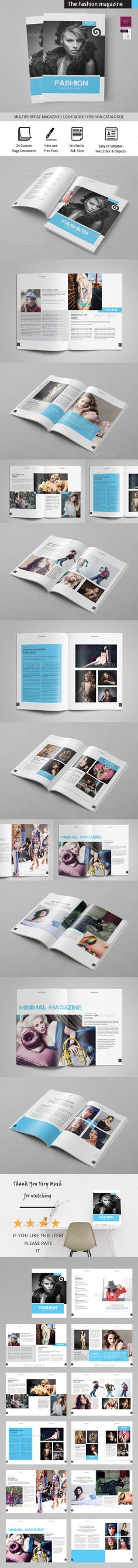 The Fashion Magazine Design Template - Magazines Print Design Template InDesign INDD. Download here: https://graphicriver.net/item/the-fashion/19414483?ref=yinkira