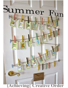 A Hanging Summer Bucket List with printables