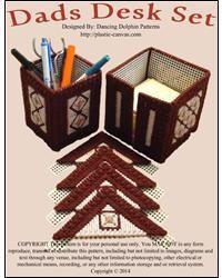 Dads Desk Set Canvas Designs, Desk Set, Plastic Canvas Patterns, Dancing, Baskets, Dads, Boxes, Crates, Dance
