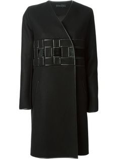 Shop David Koma woven detail coat in Jean Pierre Bua from the world's best independent boutiques at farfetch.com. Over 1000 designers from 60 boutiques in one website.