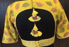 55 Latest Pattu saree blouse back neck designs New Saree Blouse Designs, Blouse Designs High Neck, Blouse Designs Catalogue, Fancy Blouse Designs, Blouse Styles, Stylish Blouse Design, Designer Blouse Patterns, Neue Trends, Beauty