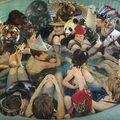 Person Pitch // Panda Bear // Album Cover Art by Agnes Montgomery 2007 Good Girl, Bear Songs, Animal Collective, Grand Chef, Cool Album Covers, Music Covers, Photoshop, Best Albums, Chef D Oeuvre