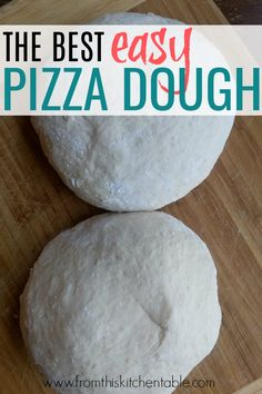 two lumps of pizza dough. The best basic pizza dough recipe and tips for making a perfect pizza. This is amazing and so easy. You need this for your pizza night tradition! Pizza Recipes, Gourmet Recipes, Cooking Recipes, Cooking Cake, Apple Recipes, Delicious Recipes, Bread Recipes, Yummy Food, Healthy Recipes