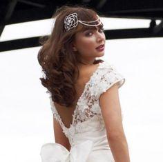 Art Deco Vintage Pearl Wedding Forehead Tiara