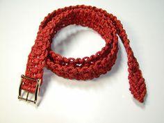 Cinturon rojo #macrame