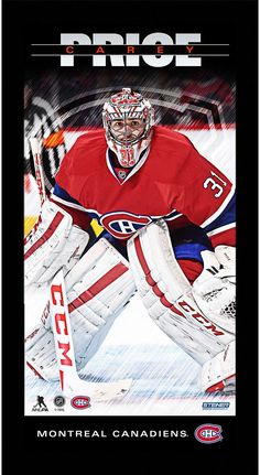 Carey Price Montreal Canadiens Player Profile 10x20 Framed Photo Celebrate  one of the most exciting players 06c82c8e4