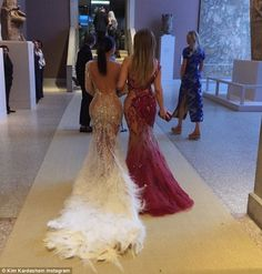 Close: Kim has made no secret of her admiration for Jennifer and shared this picture of th...
