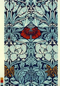 Design artwork from a William Morris weave Art And Craft Design, Design Crafts, Design Art, William Morris Patterns, William Morris Art, Textures Patterns, Print Patterns, Motifs Art Nouveau, Art Nouveau Illustration