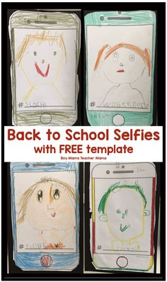 First Day of School Selfies with FREE Template - Boy Mama Teacher Mama Preschool First Day, All About Me Preschool, First Day Of School Activities, Kindergarten First Day, Kindergarten Art, Preschool Art, Preschool Activities, September Activities, Kindergarten Graduation