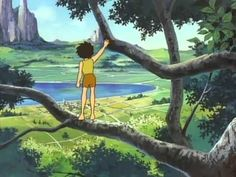 So, I just finished watching Hayao Miyazaki's 1978 TV series The Future Boy Conan and I'm absolutely stunned by the quality exhibited in t. Best Friend Wallpaper, Jungle Scene, Future Boy, Kid Character, Old Cartoons, Hayao Miyazaki, Good Vibes Only, The Last Airbender, Studio Ghibli