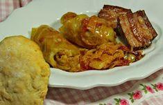 Retrográd: Töltött káposzta cigányosan Hungarian Cuisine, No Cook Meals, Chicken Wings, Cooking, Food, Drinks, Red Peppers, Kitchen, Drinking