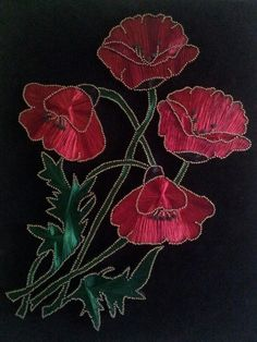 Thread Art, Thread Painting, Nail String Art, String Art Patterns, Hand Embroidery Art, Quilling Flowers, Wire Art, Textile Art, Handicraft