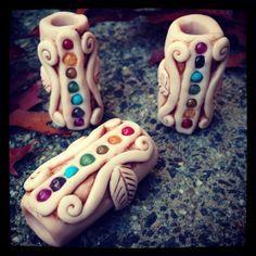 polymer clay dreadlock beads - Google Search