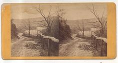 Neversink Mountain, Lover's Leap near READING PA Pennsylvania Antique Stereoview