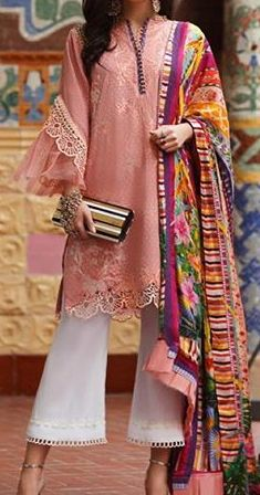 Pakistani Dresses Casual, Indian Designer Wear, Summer Collection, Cotton Dresses, Designer Dresses, Kimono Top, Lace, Sleeves, How To Wear