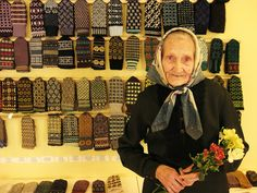 latvian lady with mittens