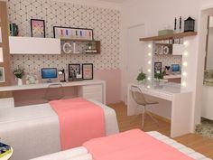 Super Ideas For Quotes Girl Teenagers Inspirational Teen Bedroom Designs, Room Design Bedroom, Bedroom Layouts, Diy Bedroom Decor, Home Decor, Bedroom Ideas, Teen Room Decor, Big Girl Rooms, Dream Rooms