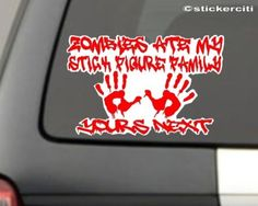 Zombies Ate My Stick Figure Family Decal Nobody cares about your Funny Vinyl Sticker (FREE Zombie Hunter Permit Decal) by stickerciti, http://www.amazon.com/dp/B0086CPGBM/ref=cm_sw_r_pi_dp_gI4Pqb0XMZBN1