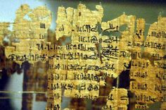 Turin King List - this papyrus is believed to be the most extensive list of kings compiled by the Egyptians, and is the basis for most chronology before the reign of Ramesses II. Museo Egizio, Torino, Italy