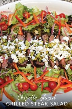 steak salad is a flavorful summer-time salad-for-dinner. The chipotle ...