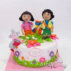 Dora cake hmmm i have a lot of practice to do before april