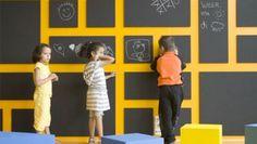 Idee per la cameretta, muri lavagna per i piccoli artisti